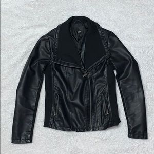 Black Leather-looking Jacket